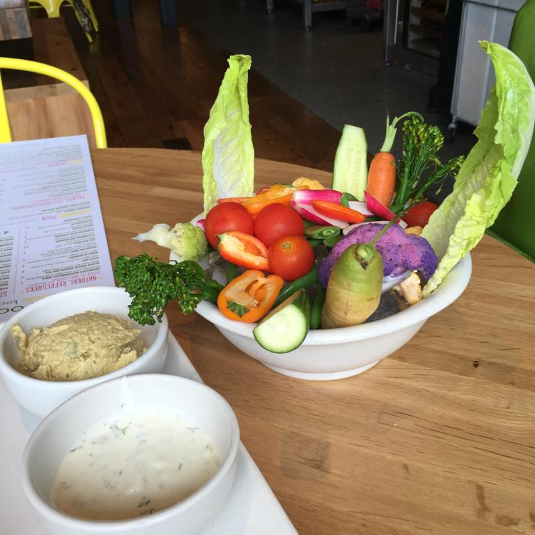 The crudités at True Food Kitchen. PHOTOGRAPH BY JENNIFER ZYMAN.