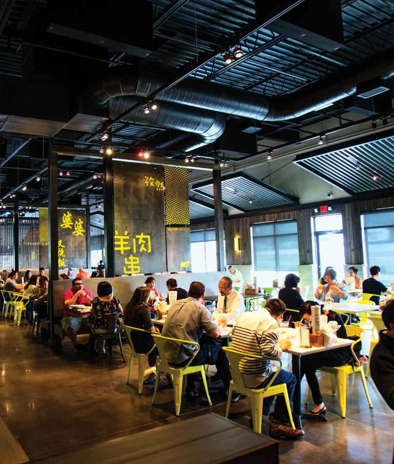 Food Terminal's main dining room looks more like an upscale food hall. PHOTOGRAPH BY IAIN BAGWELL